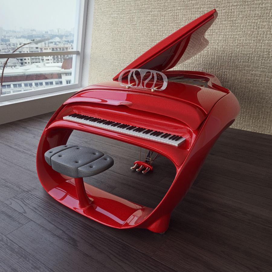 Schimmel Pegasus piano royalty-free 3d model - Preview no. 7