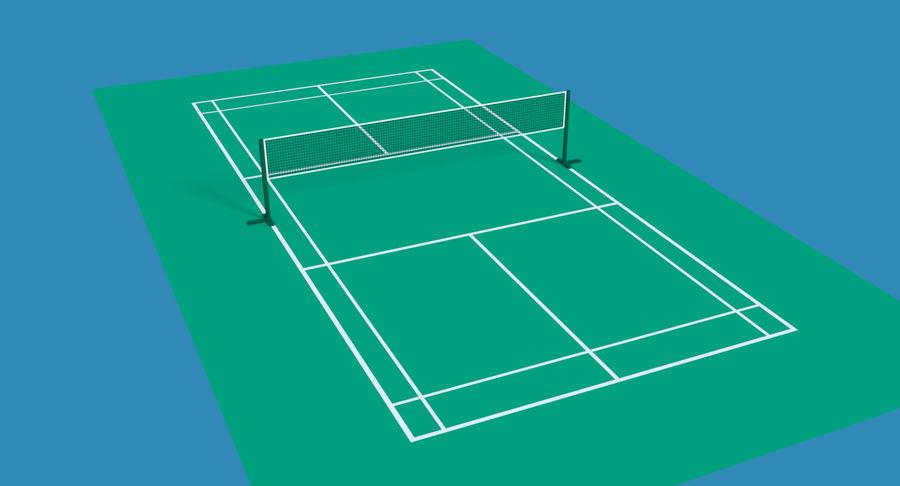 Quadra de badminton royalty-free 3d model - Preview no. 2
