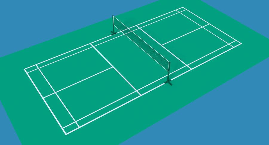 Quadra de badminton royalty-free 3d model - Preview no. 4