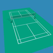Badminton veld 3d model