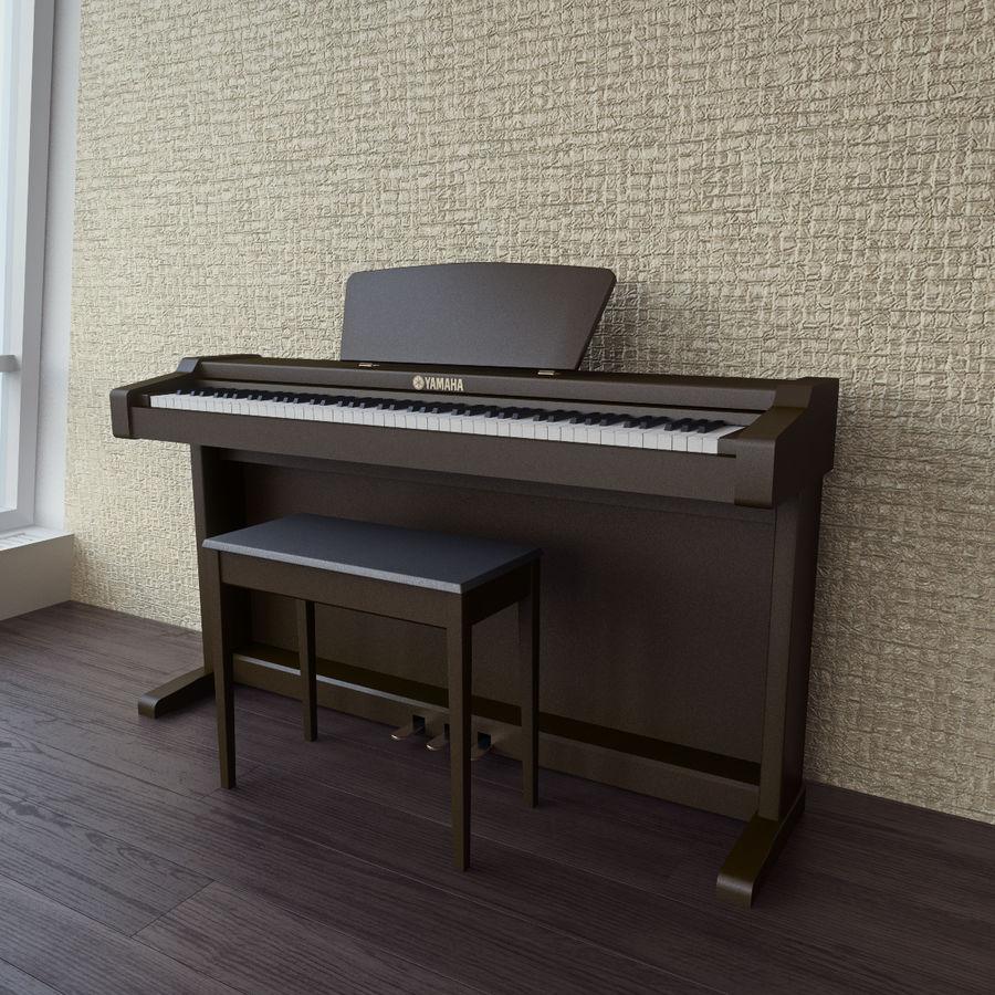 Пианино Yamaha Clavia royalty-free 3d model - Preview no. 7