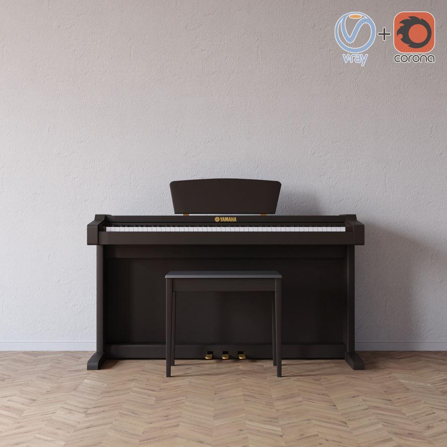 Пианино Yamaha Clavia royalty-free 3d model - Preview no. 1