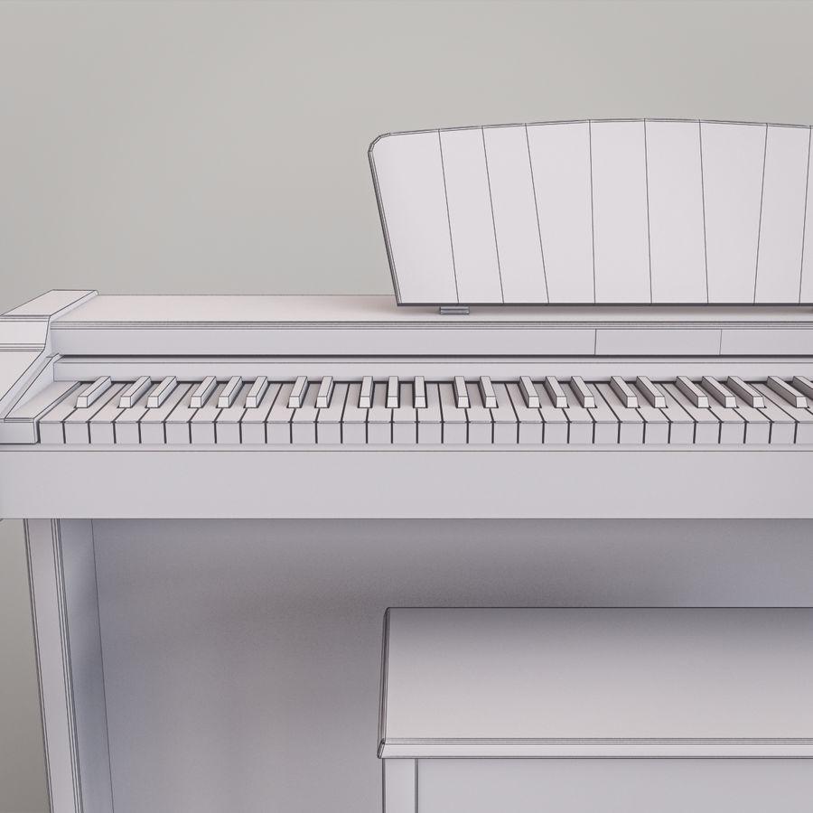 Пианино Yamaha Clavia royalty-free 3d model - Preview no. 21