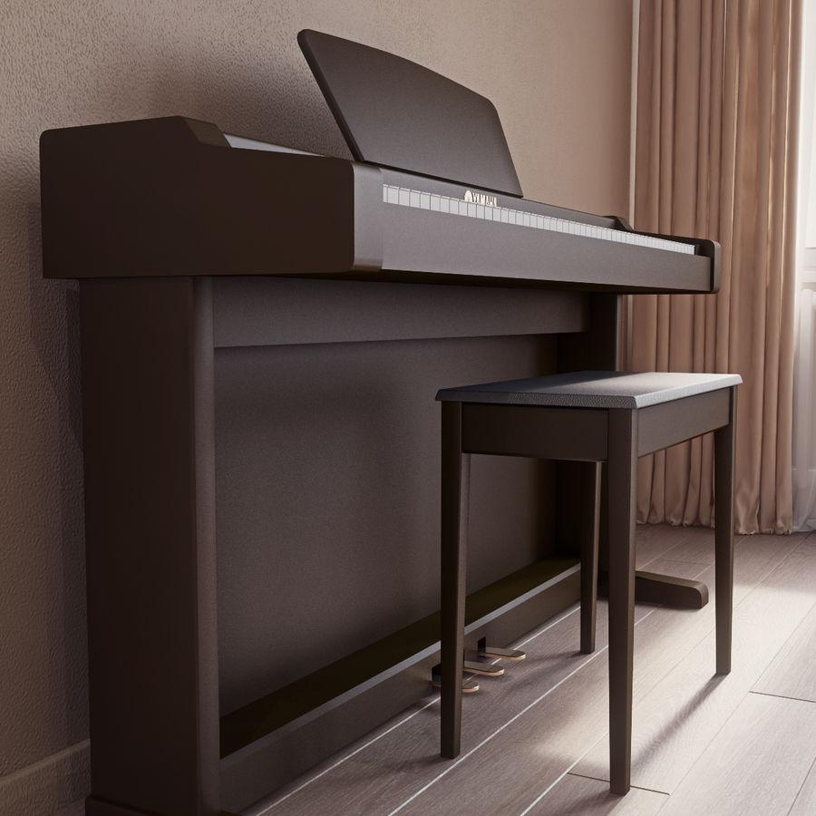 Пианино Yamaha Clavia royalty-free 3d model - Preview no. 4