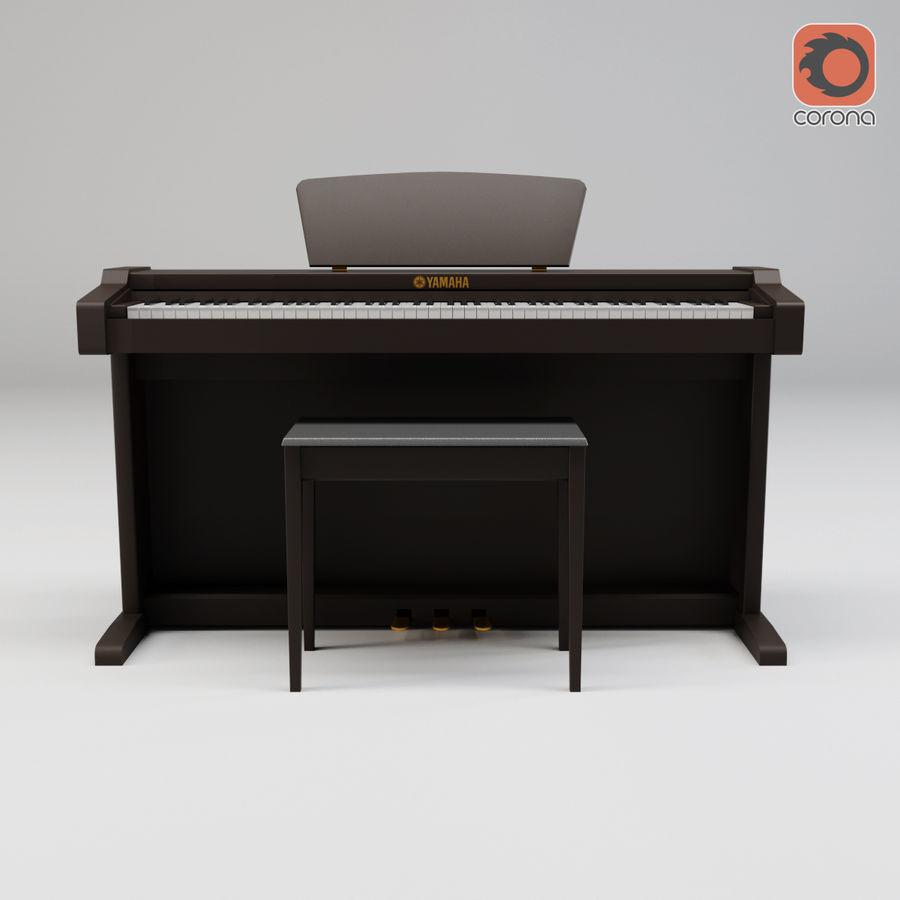 Пианино Yamaha Clavia royalty-free 3d model - Preview no. 12
