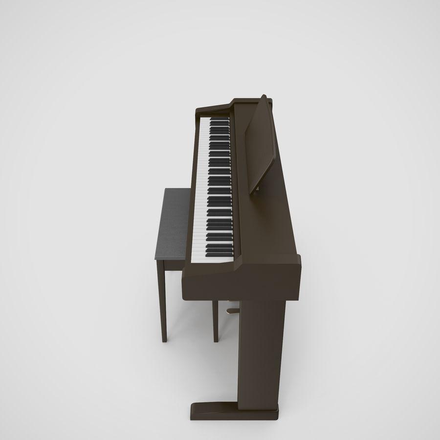Пианино Yamaha Clavia royalty-free 3d model - Preview no. 16