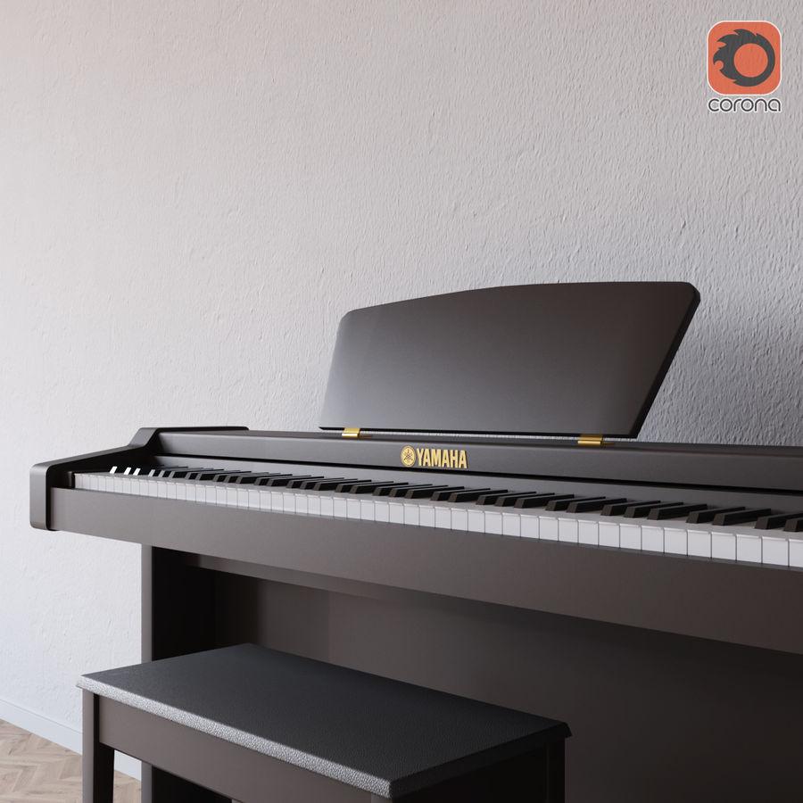 Пианино Yamaha Clavia royalty-free 3d model - Preview no. 2