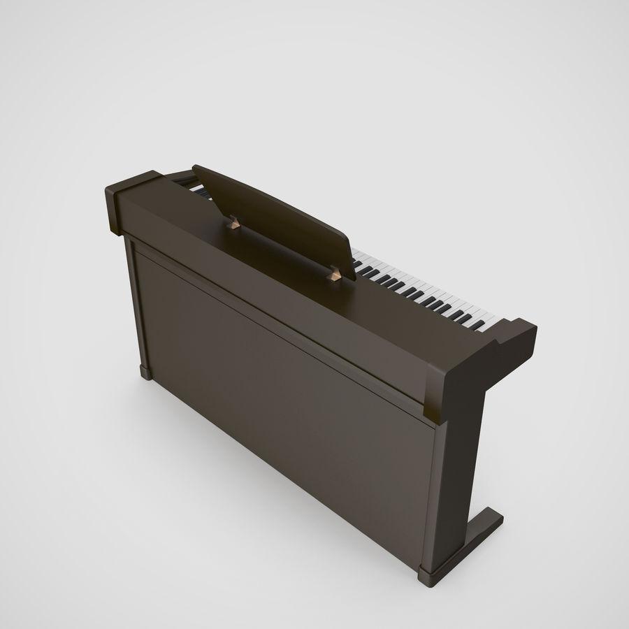 Пианино Yamaha Clavia royalty-free 3d model - Preview no. 17