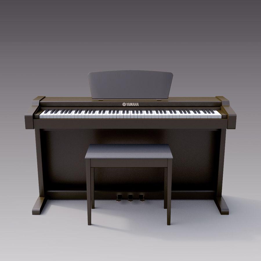 Пианино Yamaha Clavia royalty-free 3d model - Preview no. 10