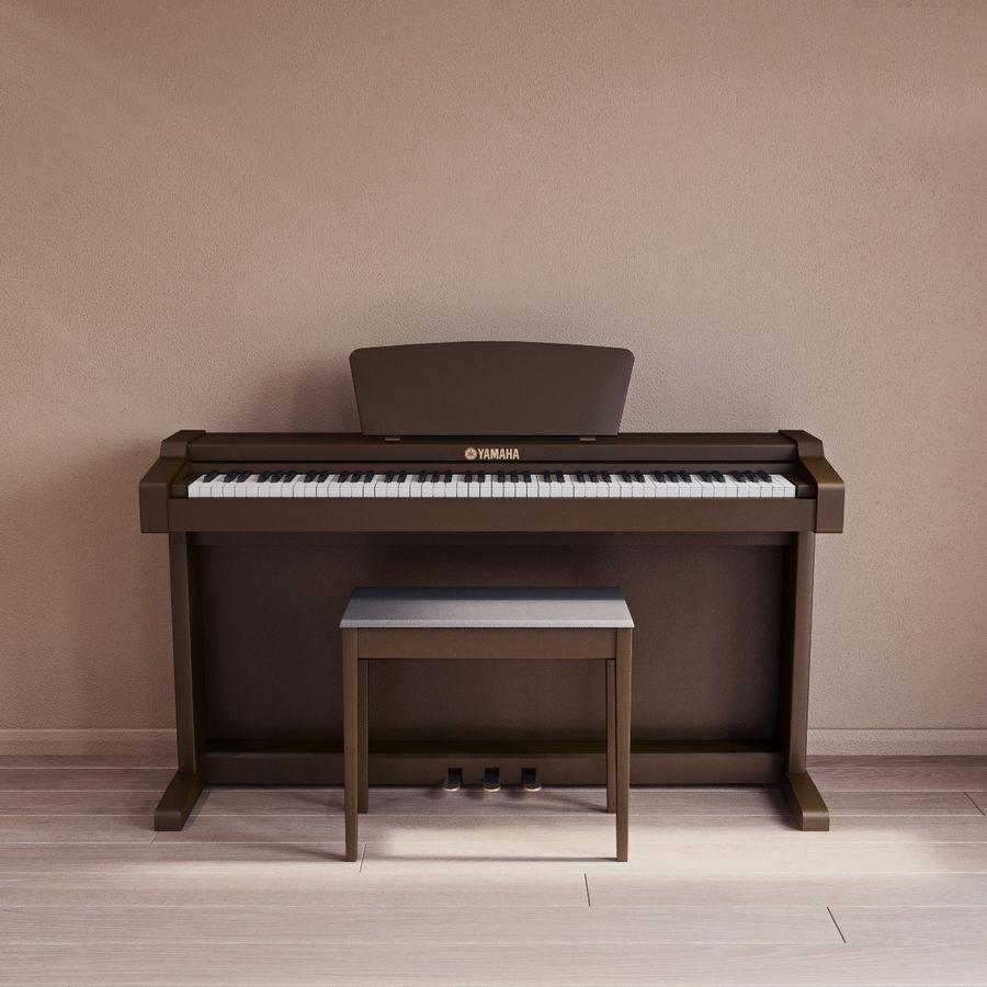 Пианино Yamaha Clavia royalty-free 3d model - Preview no. 3