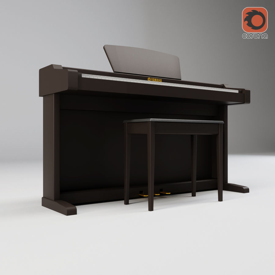 Пианино Yamaha Clavia royalty-free 3d model - Preview no. 13