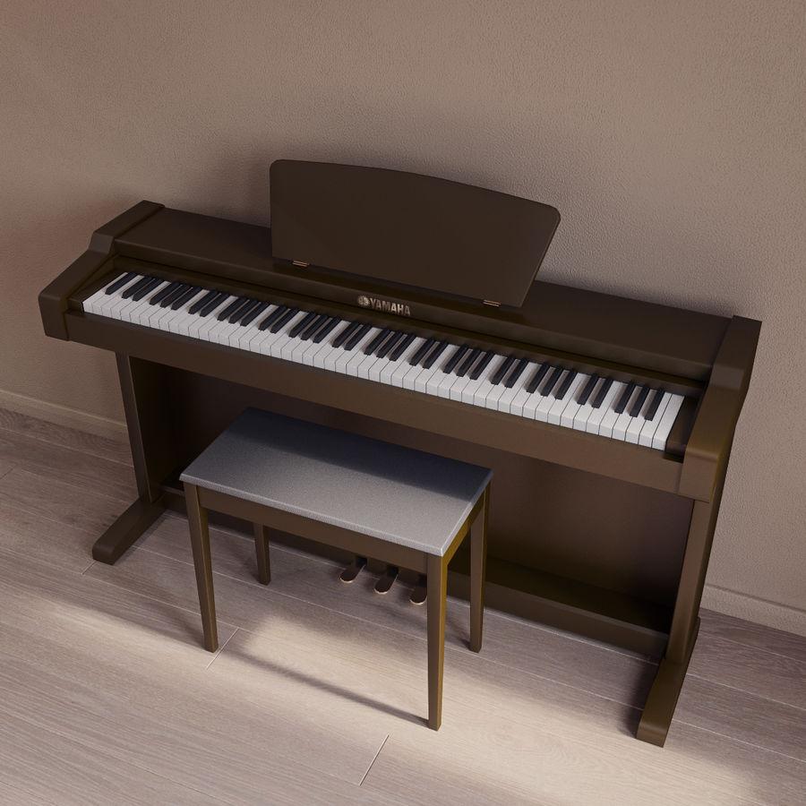 Пианино Yamaha Clavia royalty-free 3d model - Preview no. 5