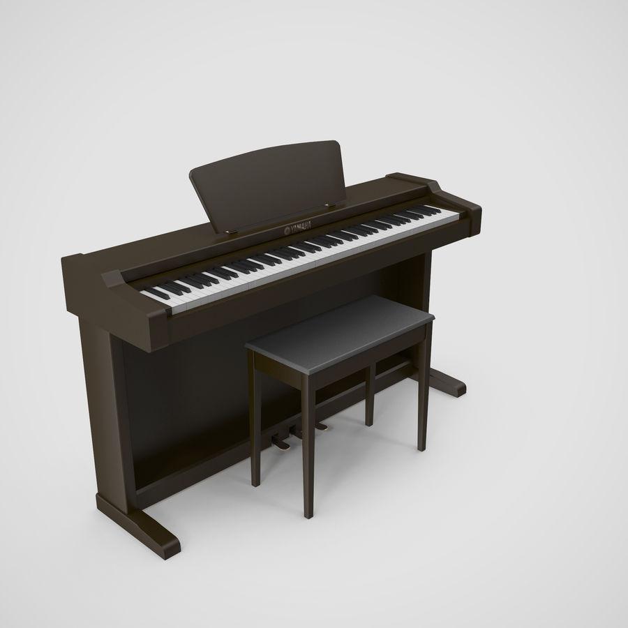 Пианино Yamaha Clavia royalty-free 3d model - Preview no. 18