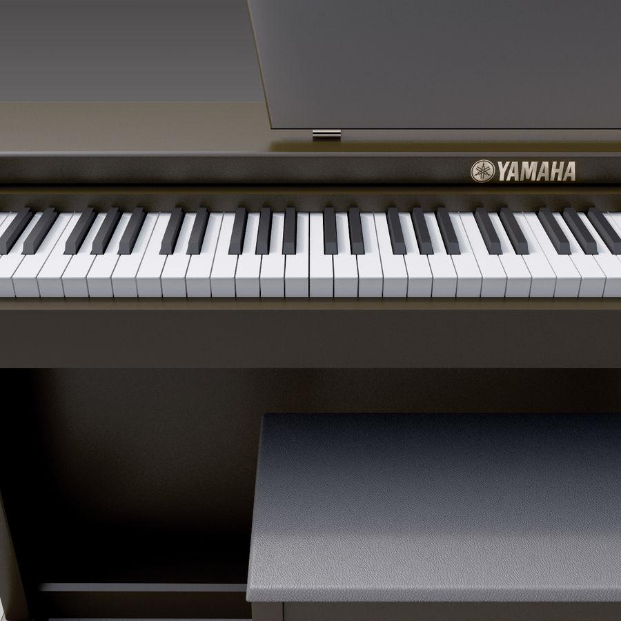 Пианино Yamaha Clavia royalty-free 3d model - Preview no. 11