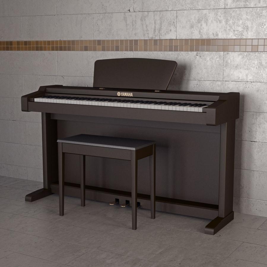 Пианино Yamaha Clavia royalty-free 3d model - Preview no. 9