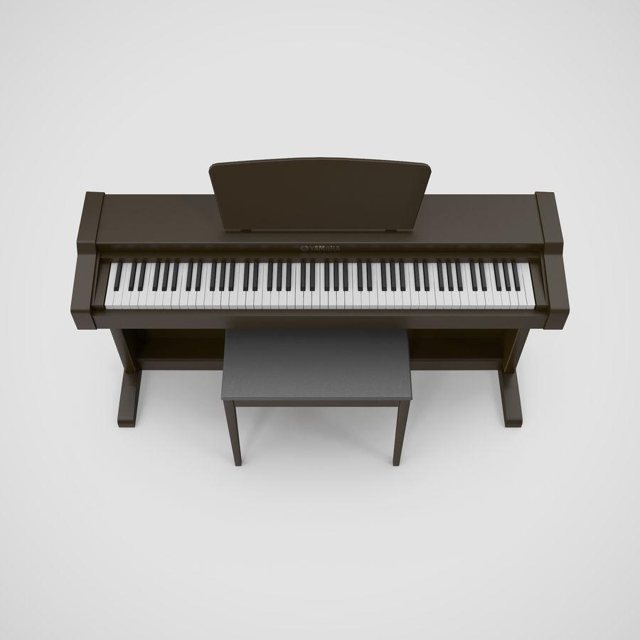 Пианино Yamaha Clavia royalty-free 3d model - Preview no. 15