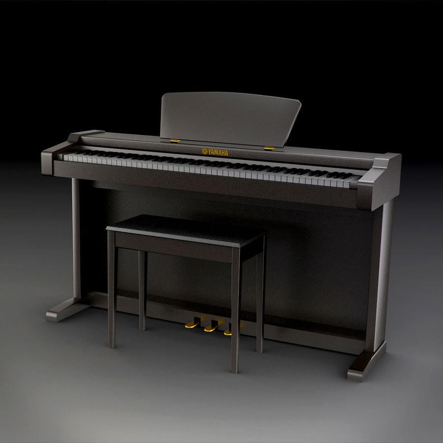 Пианино Yamaha Clavia royalty-free 3d model - Preview no. 6