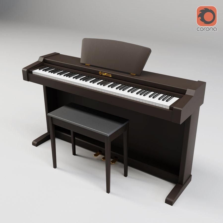 Пианино Yamaha Clavia royalty-free 3d model - Preview no. 14