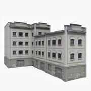 Big Industrial Building 3d model