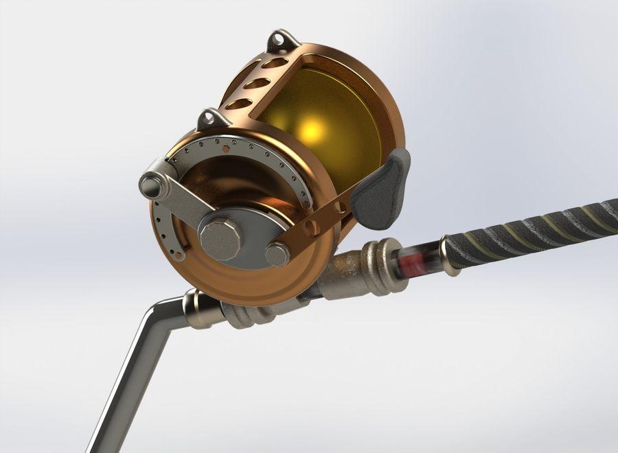 Fishing rod large reel 3d model 8 sldas wrl obj fbx for Tuna fishing rod and reel
