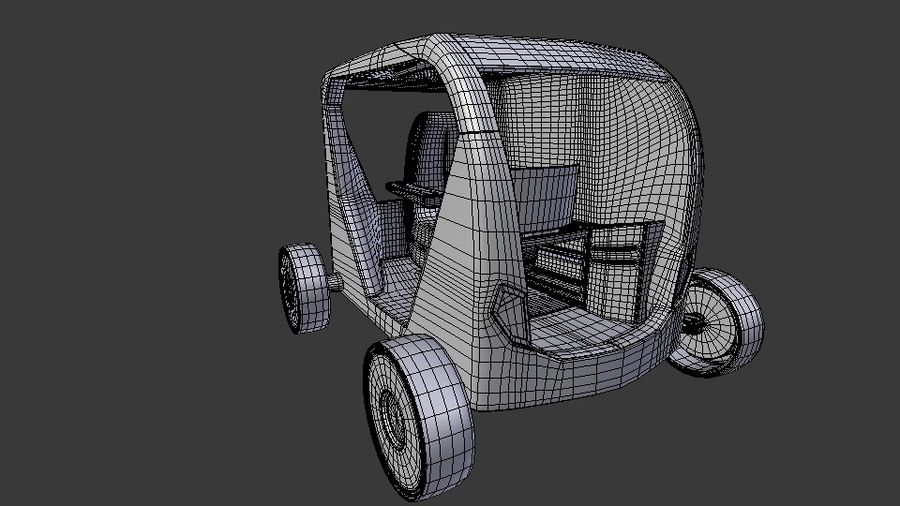Concept styled single seater commuter royalty-free 3d model - Preview no. 11