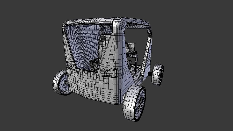 Concept styled single seater commuter royalty-free 3d model - Preview no. 10