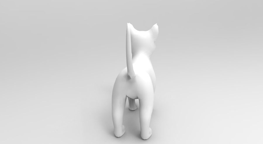 cute cat model royalty-free 3d model - Preview no. 16