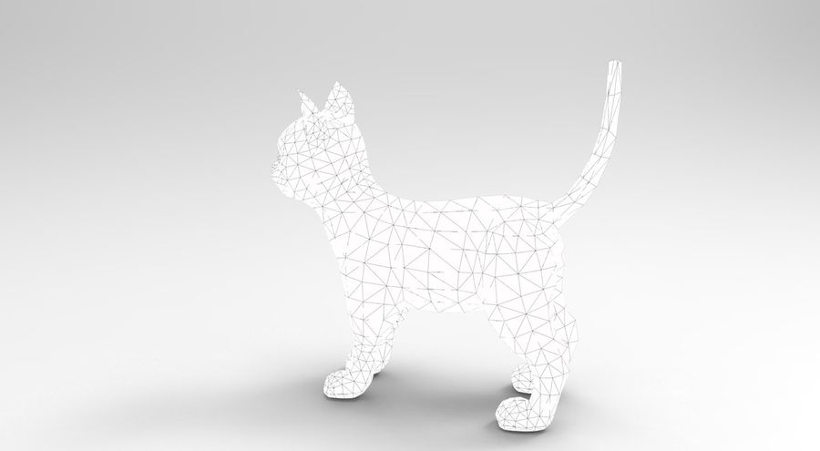 cute cat model royalty-free 3d model - Preview no. 21
