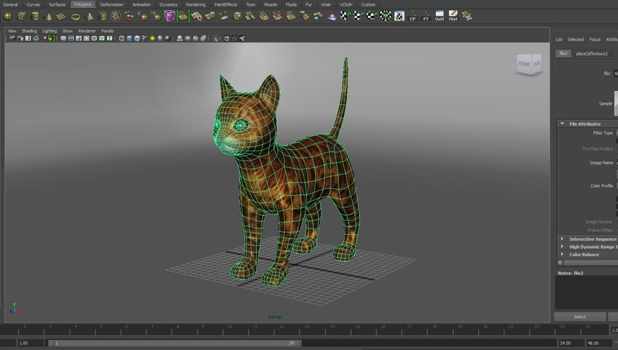 cute cat model royalty-free 3d model - Preview no. 5