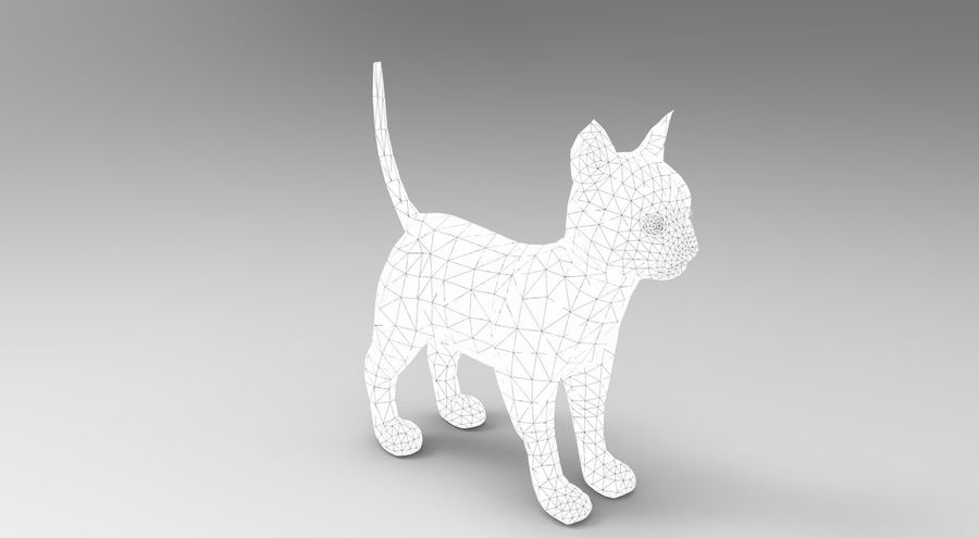 cute cat model royalty-free 3d model - Preview no. 18