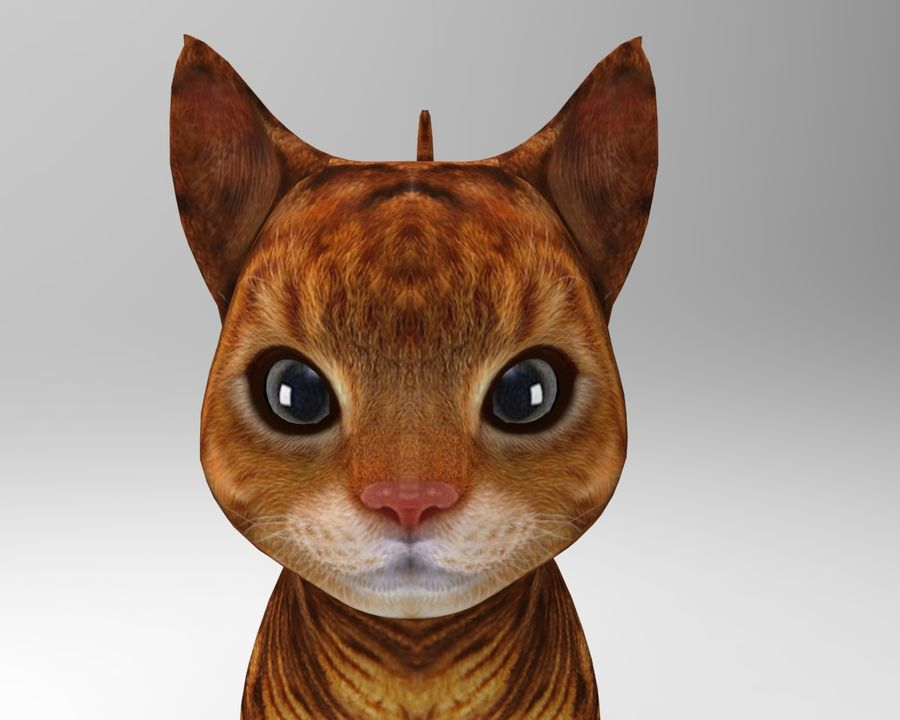 cute cat model royalty-free 3d model - Preview no. 11