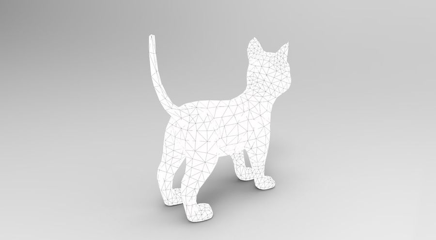 cute cat model royalty-free 3d model - Preview no. 23