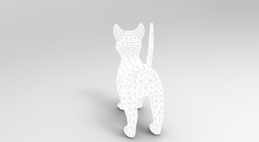 cute cat model royalty-free 3d model - Preview no. 22