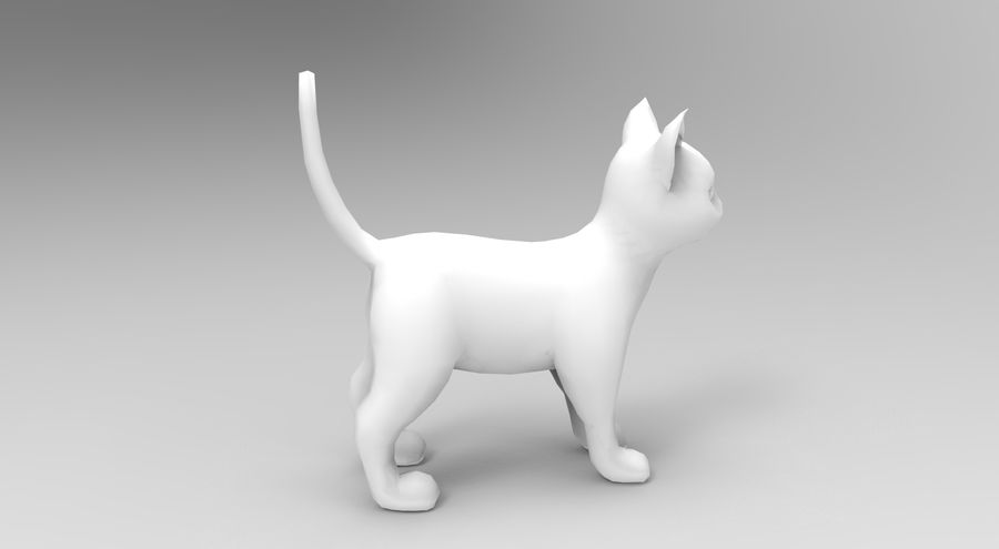 cute cat model royalty-free 3d model - Preview no. 17