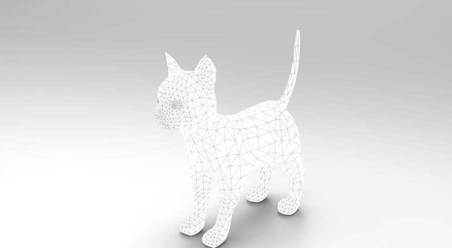 cute cat model royalty-free 3d model - Preview no. 20
