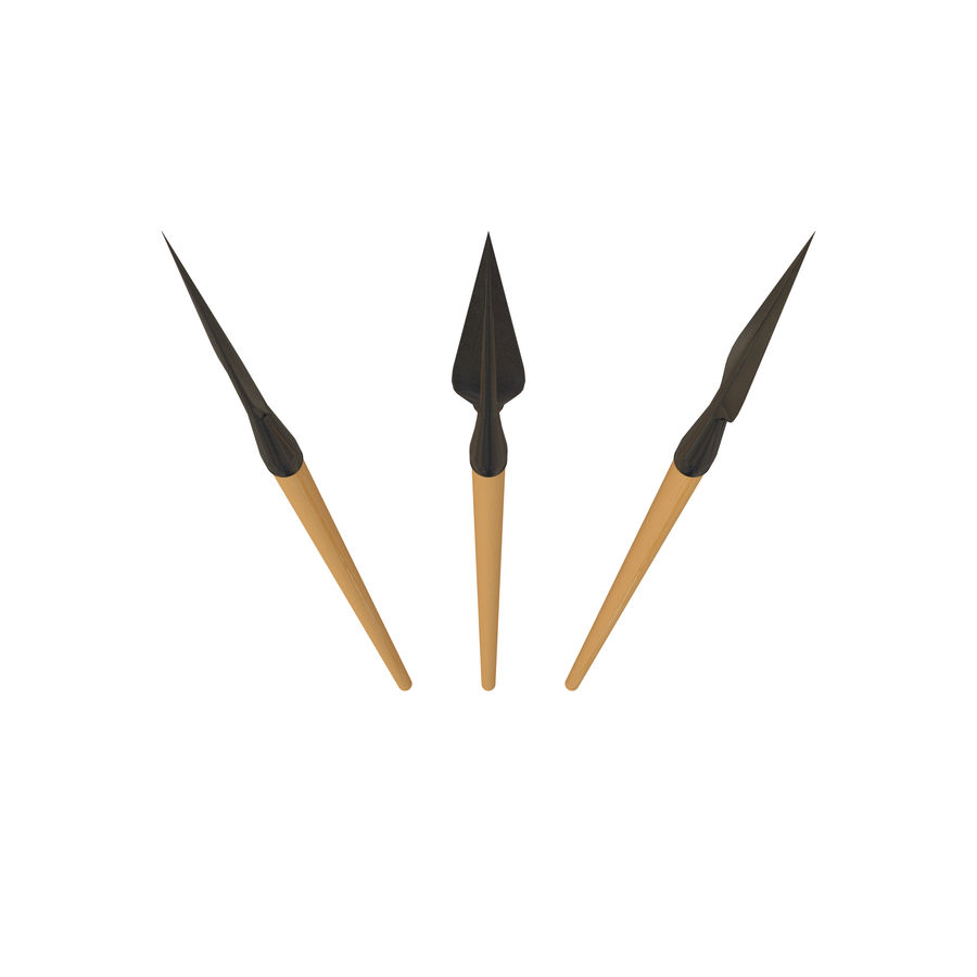 Steel Spear royalty-free 3d model - Preview no. 2
