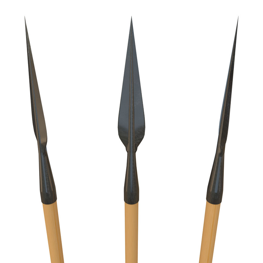 Steel Spear royalty-free 3d model - Preview no. 4