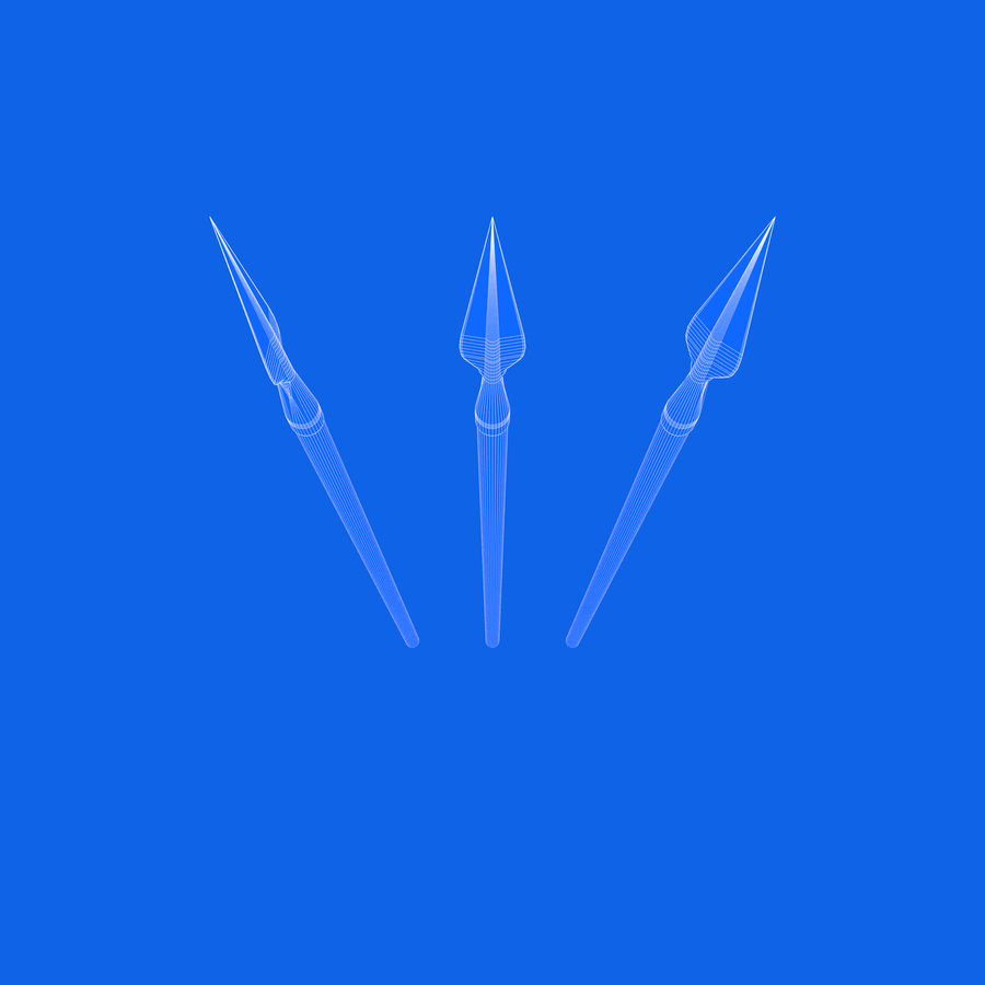 Steel Spear royalty-free 3d model - Preview no. 9