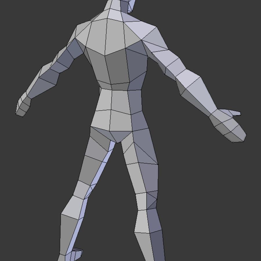 Низкополигональная мужская модель royalty-free 3d model - Preview no. 6