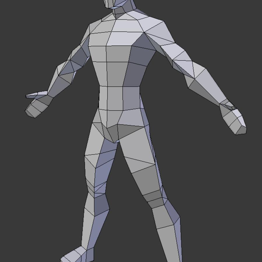 Низкополигональная мужская модель royalty-free 3d model - Preview no. 5