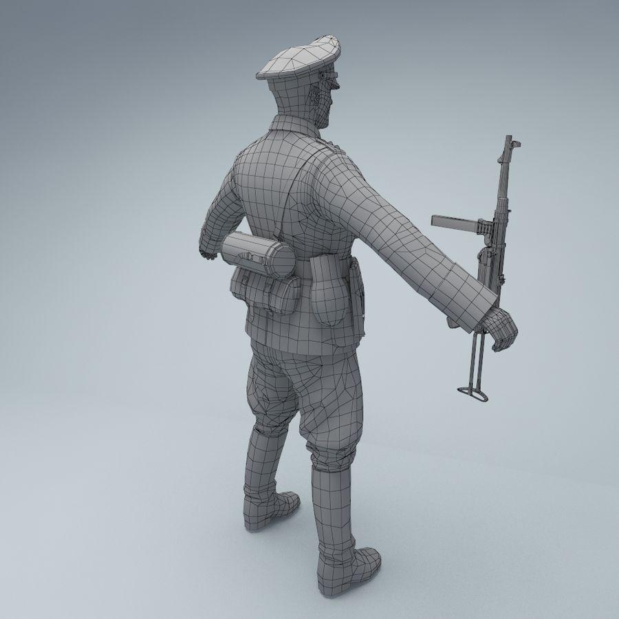 Wehrmacht oficial soldado WW2 royalty-free 3d model - Preview no. 5
