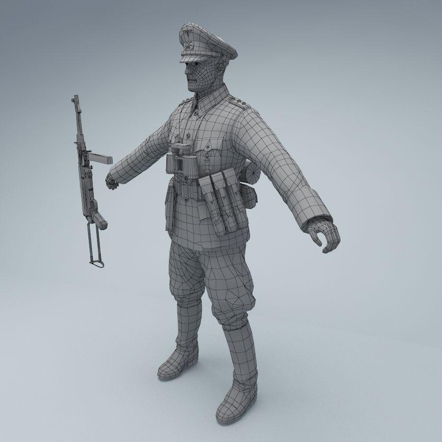 Wehrmacht oficial soldado WW2 royalty-free 3d model - Preview no. 8