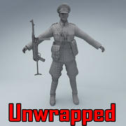 Wehrmacht officer soldier WW2 3d model