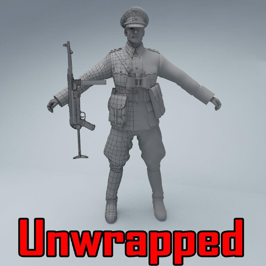 Wehrmacht oficial soldado WW2 royalty-free 3d model - Preview no. 1