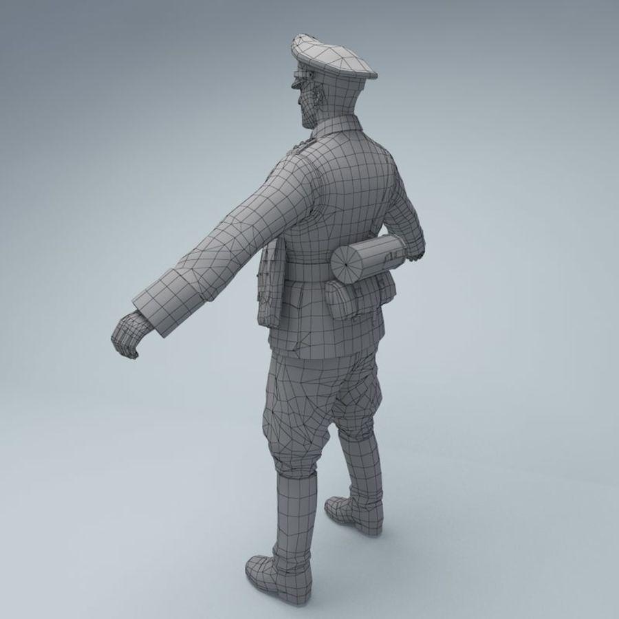 Wehrmacht oficial soldado WW2 royalty-free 3d model - Preview no. 7