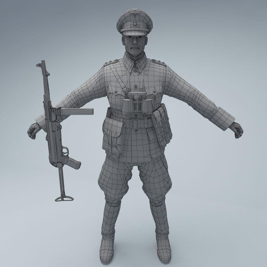 Wehrmacht oficial soldado WW2 royalty-free 3d model - Preview no. 2
