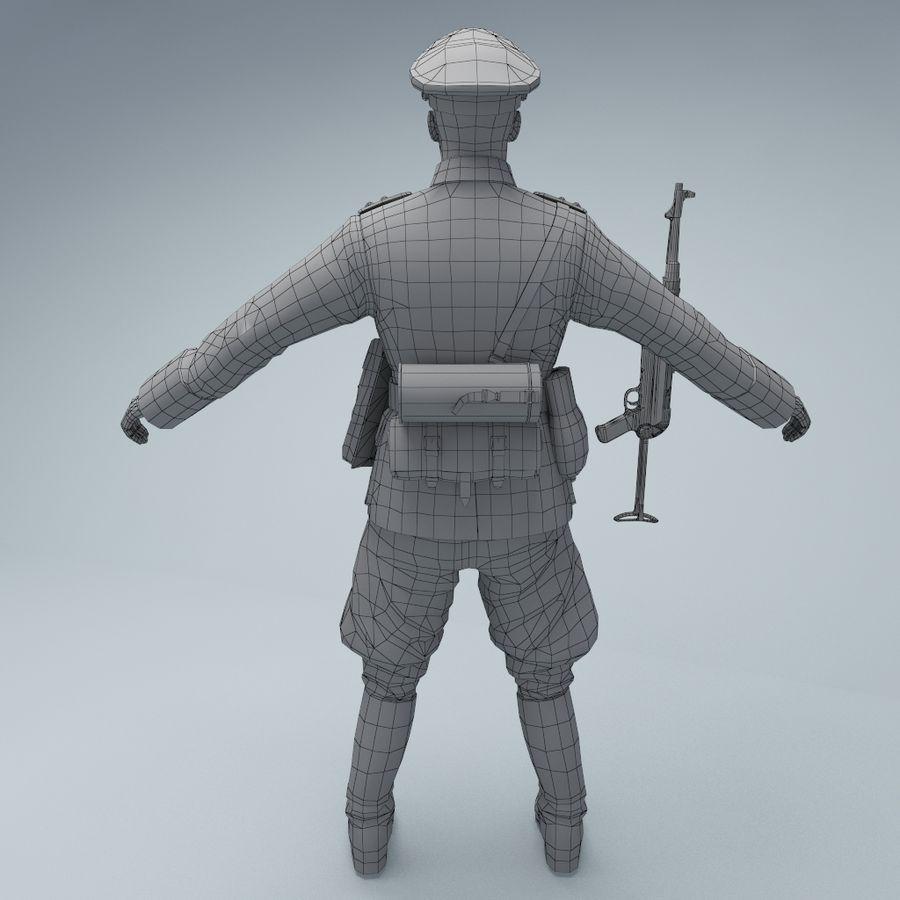 Wehrmacht oficial soldado WW2 royalty-free 3d model - Preview no. 6