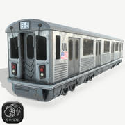 New York Subway game ready 3d model