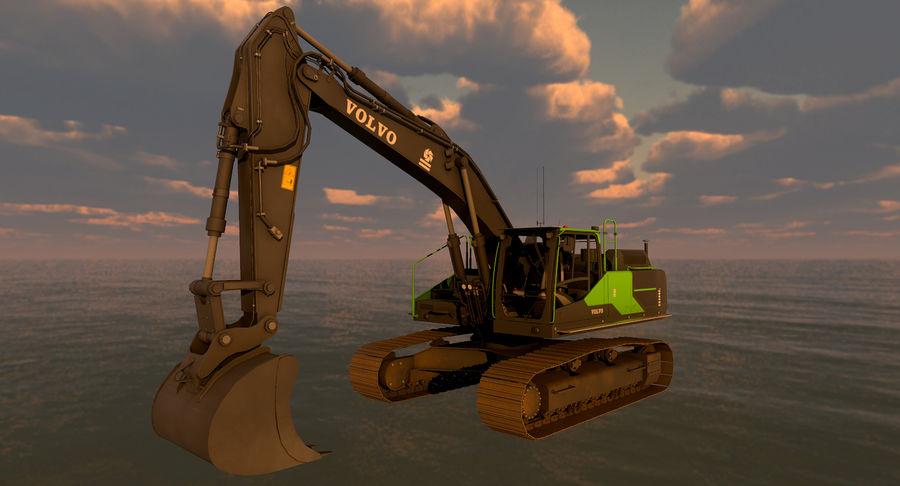 Hydraulic Excavator Volvo EC 380EL royalty-free 3d model - Preview no. 21