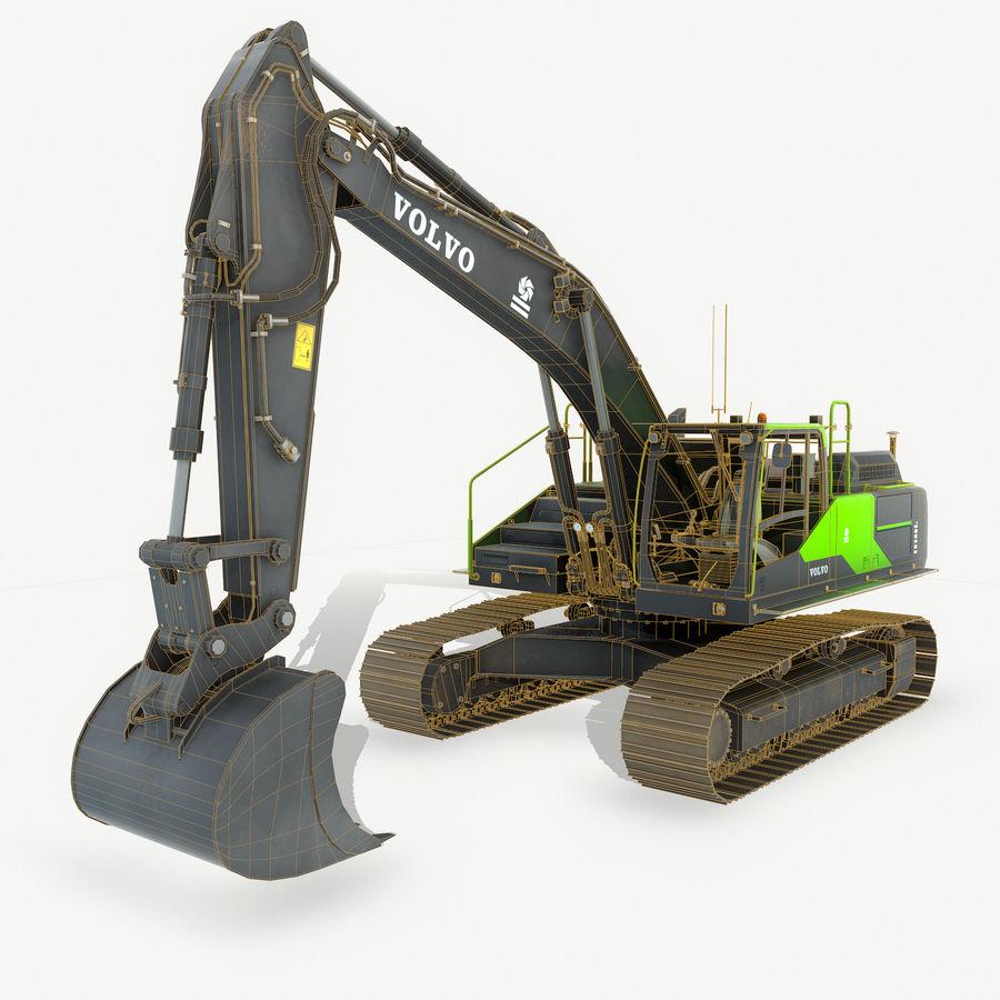 Hydraulic Excavator Volvo EC 380EL royalty-free 3d model - Preview no. 3